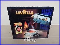 INSEGNA LAVAZZA VINTAGE NEON LUMINOSA ED ANIMATA SIGN CAFFE CAFFè ESPRESSO