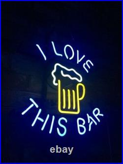 I LOVE THIS BAR Bedroom Store Bar Neon Sign Gift Custom Vintage Handcraft