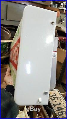 Illinois Window Shade Sign Vintage Drug Store With Box Neon Products Lima Ohio