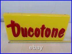 Insegna Luminosa Neon Vintage Ducotone Duco Vernice Old Sign