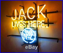 JACK LIVES HERE Bar Pub Neon SIgn Light Man Cave Vintage Patio Bistro Club