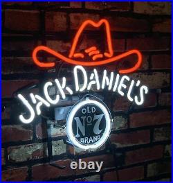 Jack Daniel's Neonlicht Vintage Dekor Wand Kunstwerk 42x34cm Neon Signs