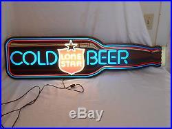 LARGE Lone Star Beer Vintage 1982 46 Long Beer Light Sign Neon Appearance