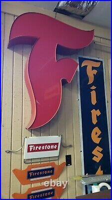 Large Vintage Firestone Neon Sign