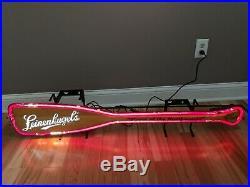 Leinenkugels Beer Canoe Paddle Vintage Fallon Neon Light Up Bar Beer Sign