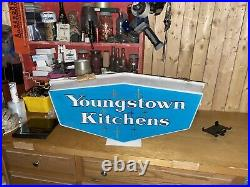 Mid Century RARE Vintage 1950s Youngstown Kitchen Light SIGN NEON PRODUCTS INC