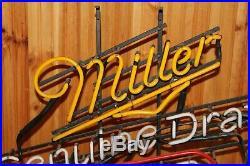 Miller Genuine Draft Light Beer Neon Light Sign Vintage WORKS 30 X 24
