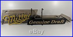 Miller Genuine Draft Neon Sign Light Guitar Vintage Excellent Condition