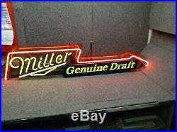 Miller Genuine Draft RARE VINTAGE Rock N Roll Guitar NEON sign! WORKS