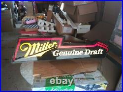 Miller Neo Neon Beer Sign Vtg Light Up Electric Guitar Bar Pub Tavern Man Cave