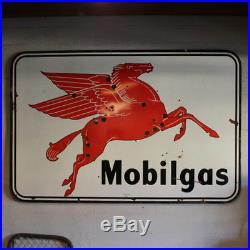 Mobil Vintage Mobilgas Porcelain Motion Neon Gas Sign Pegasus Red Horse Texlite