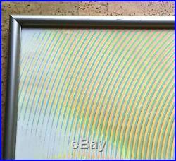 Modernist Neon Op Art Serigraph Print Richard Baringer, 1969 Vintage Psychedelic
