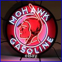Mohawk Gasoline Vintage Look Room Decor Neon Light Neon Sign 24x24
