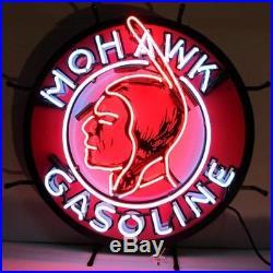 Mohawk Gasoline Vintage Neon Sign 24x24