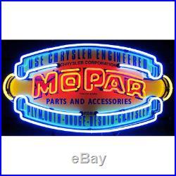 Mopar Parts & Accessories Vintage Shield Neon Sign Chrysler Dodge Hemi