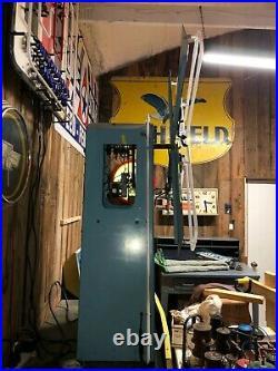 NICE ORIGINAL Vintage ANIMATED Revolving NEON WINDMILL Sign PORCELAIN Works! OLD