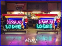 Navajo Lodge Tribute To A Vintage Neon Sign. Hand Made