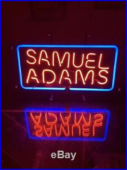 Neon Beer Sign VINTAGE 1980s Original Samuel Adams