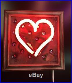 Neon Light Art Sign Visual Artwork Wall Decor Vintage Handmade Valentines gift