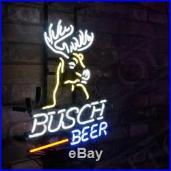 Neon Light Busch Beer Bar Deer Sign Vintage Boutique Workshop Home Wall Decor