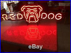 Neon Red Dog Vintage Sign 1974