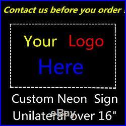 Neon Sign Handmade Decor Porcelain Budweiser Beer Vintage Wall Open Custom