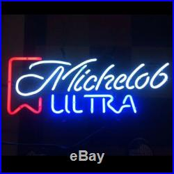 Neon Sign Vintage Michelob Ultra Beer Bar Pub Store Party Home Decor 19x15