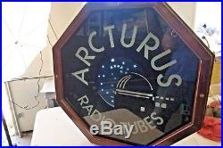 Neon Vintage Lighted Arcturus Radio Tube Animated Light Up Wall Sign 24