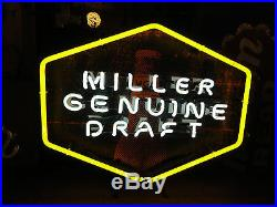 Neon advertising beer sign vintage antique miller brewing co