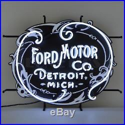 Neon sign FoMoCo GT Ford Motor Company Trucks Detroit 1903 Vintage Emblem OLP