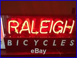 Neon sign vintage bicycle raleigh