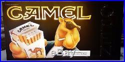 New Vintage 1993 Joe Camel Magnalite Retail Open Neon Sign Original Box 456234