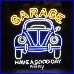 New Vintage Car Garage Have A Good Day 50's Neon Sign 32x24