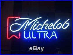 New Vintage Michelob Ultra Logo Beer Lager Neon Light Sign 17x14