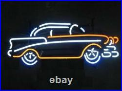 New Vintage Old Car Garage Lamp Neon Sign 17x14 Artwork Glass Wall Decor