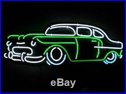 New Vintage Old Car Neon Sign Light 20x16 Wall Decor Man Cave Bar Beer
