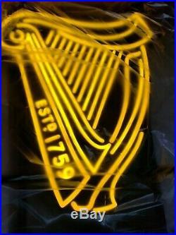 New Vtg Guinness Irish Pub Pro Motion Al Beer Neon Led Pub Light Bar Sign Rare