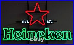 New Vtg Heineken Beer 3-d Led Star Est 1873 Bar Sign Light Pub Tavern Not Neon