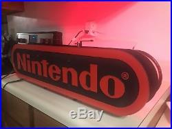 Nintendo Licensed Vintage Red Neon Display Sign 2 Sided. 100% Works! NESM37XB