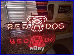 ORIGINAL RED DOG vintage neon beer sign RED NEON Really Nice Working Condition