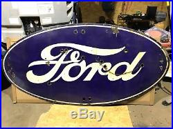ORIGINAL Vintage FORD Dealership porcelain NEON Sign