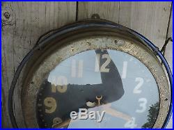 Old Vintage Neon-Ray Clock Co. Buffalo, New York Blue Neon Shop Clock