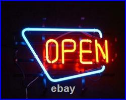 Open Vintage Style Neon Sign Beer Bar Gift 24x20 Lamp Man Cave