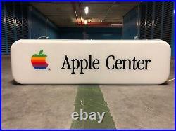 Original APPLE Center Sign Vintage 1980's Dealer Service Lighted Neon Macintosh