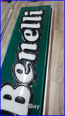 Original BENELLI Lighted Sign Neon Service Vintage 1970's NOS Dealer MV Ducati