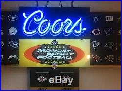 Original Coors ABC Monday Night Football Neon Beer Sign AFC NFC Vintage Rare