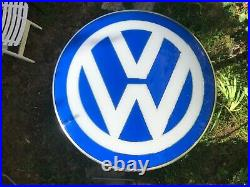 Original VOLKSWAGEN Sign Dealer VW Vintage 1990's Service Neon Lighted LOLLIPOP