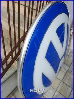 Original VW Neon Lighted Sign Volkswagen Service Dealership 1980s NOS Vintage