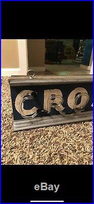 Original Vintage Crosley Car Appliance Neon Sign Gas Oil VERY RARE