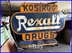 Original Vintage Rexall drug Neon marquee Sign